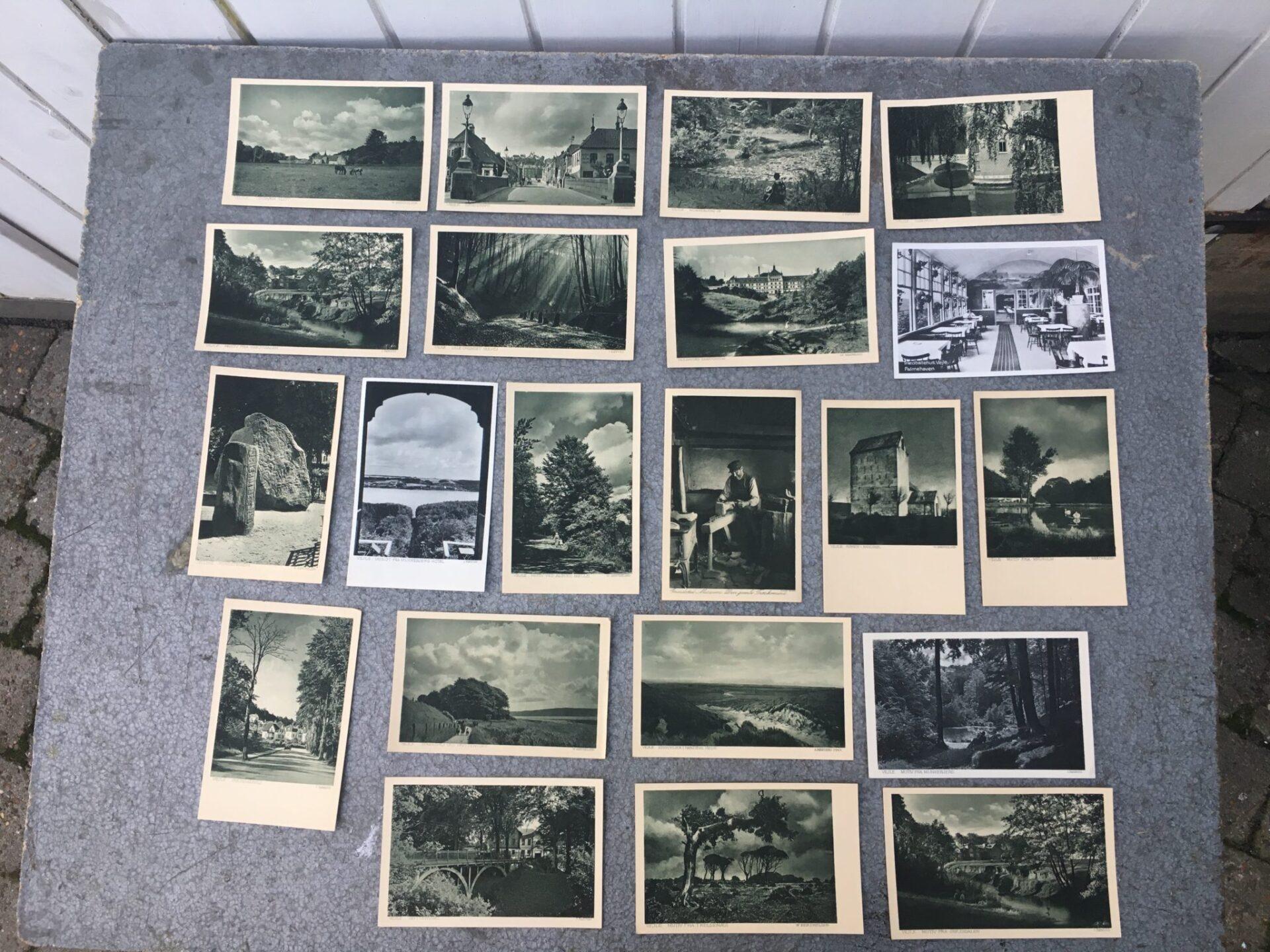20 stk postkort i alt 75 kr