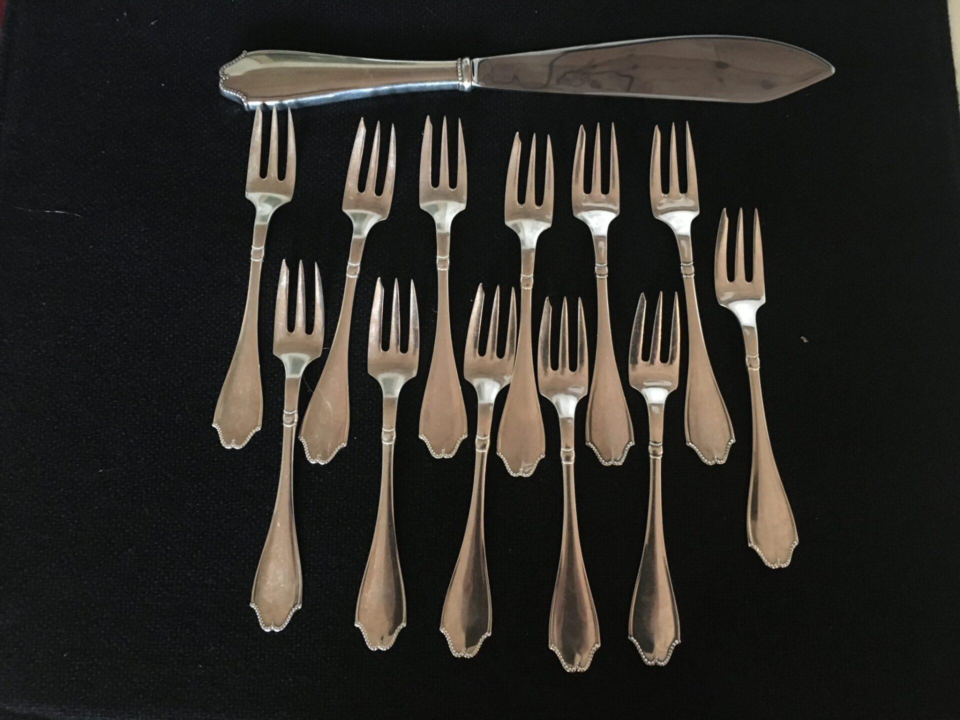 Cohr, Jægerspris, 3-tårbet sølv