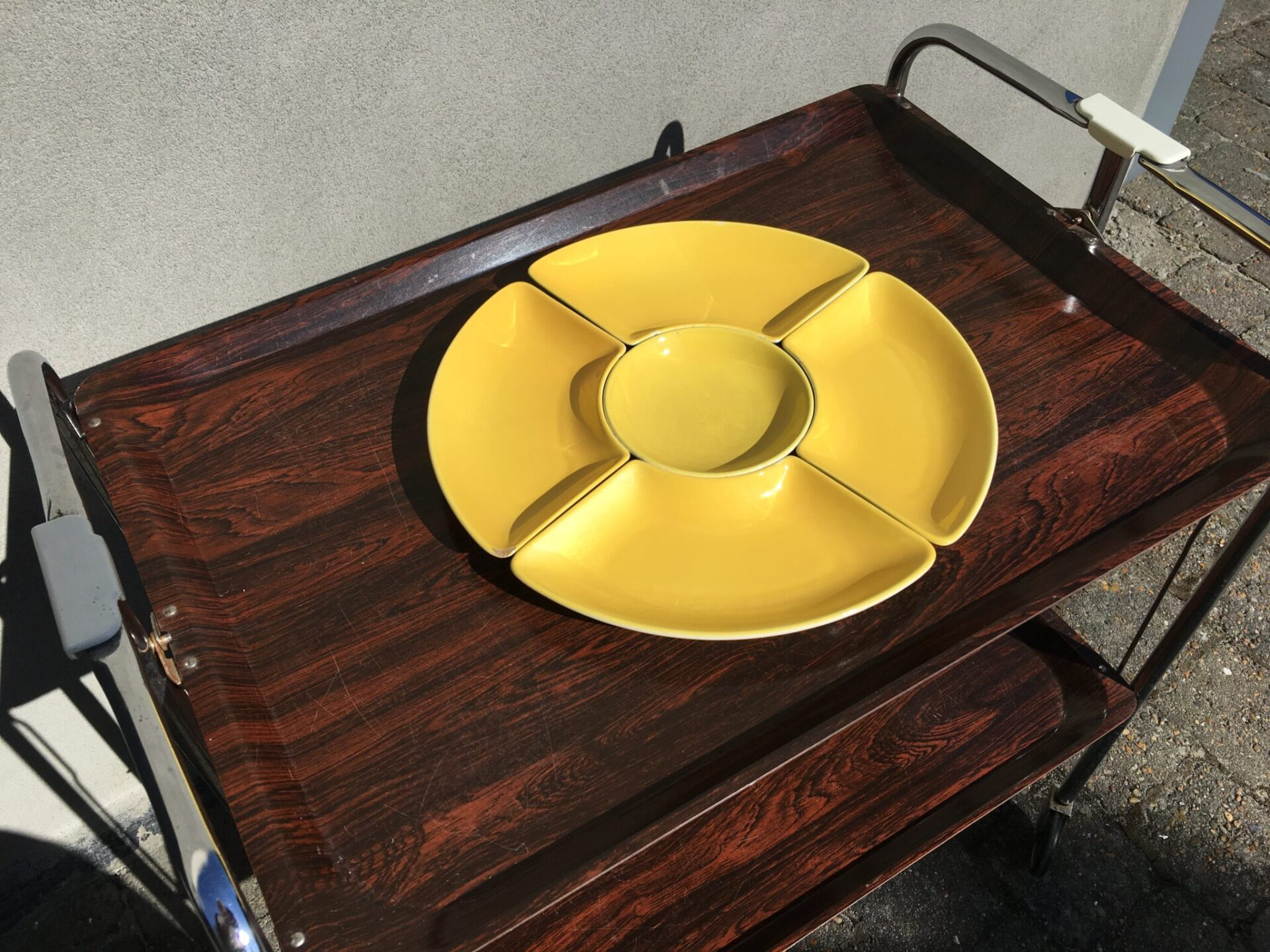 Carbaret fad, løse skåle, Aluminia Confetti (små afslag), pris 200 kr