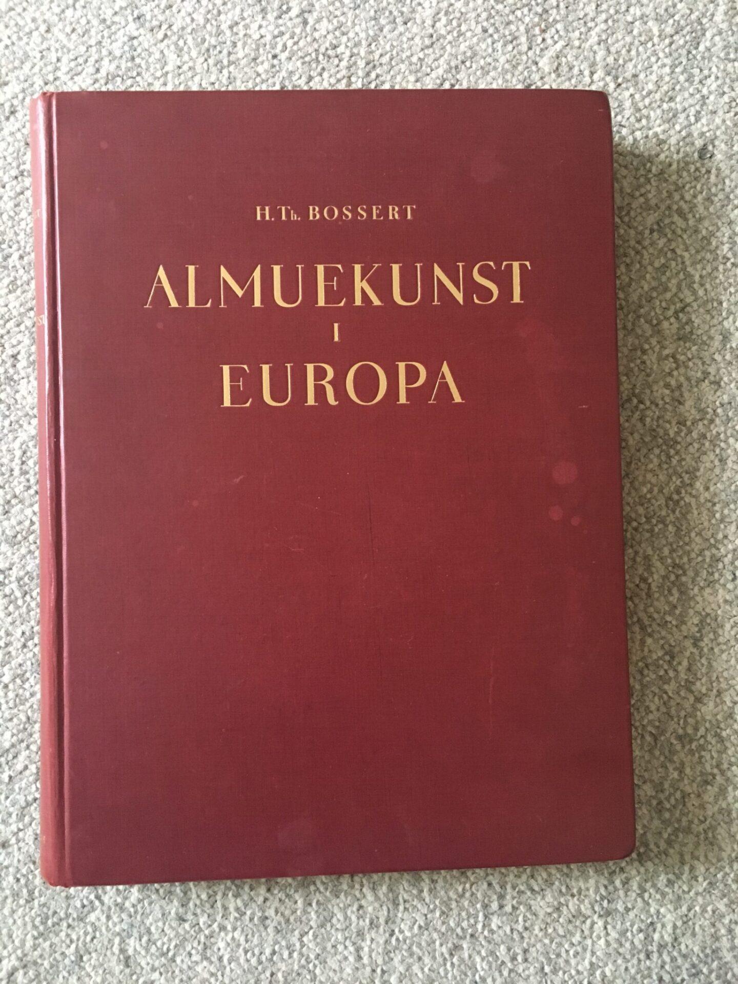 H.Th. Bossert, Almuekunst i Europa, pris 100kr