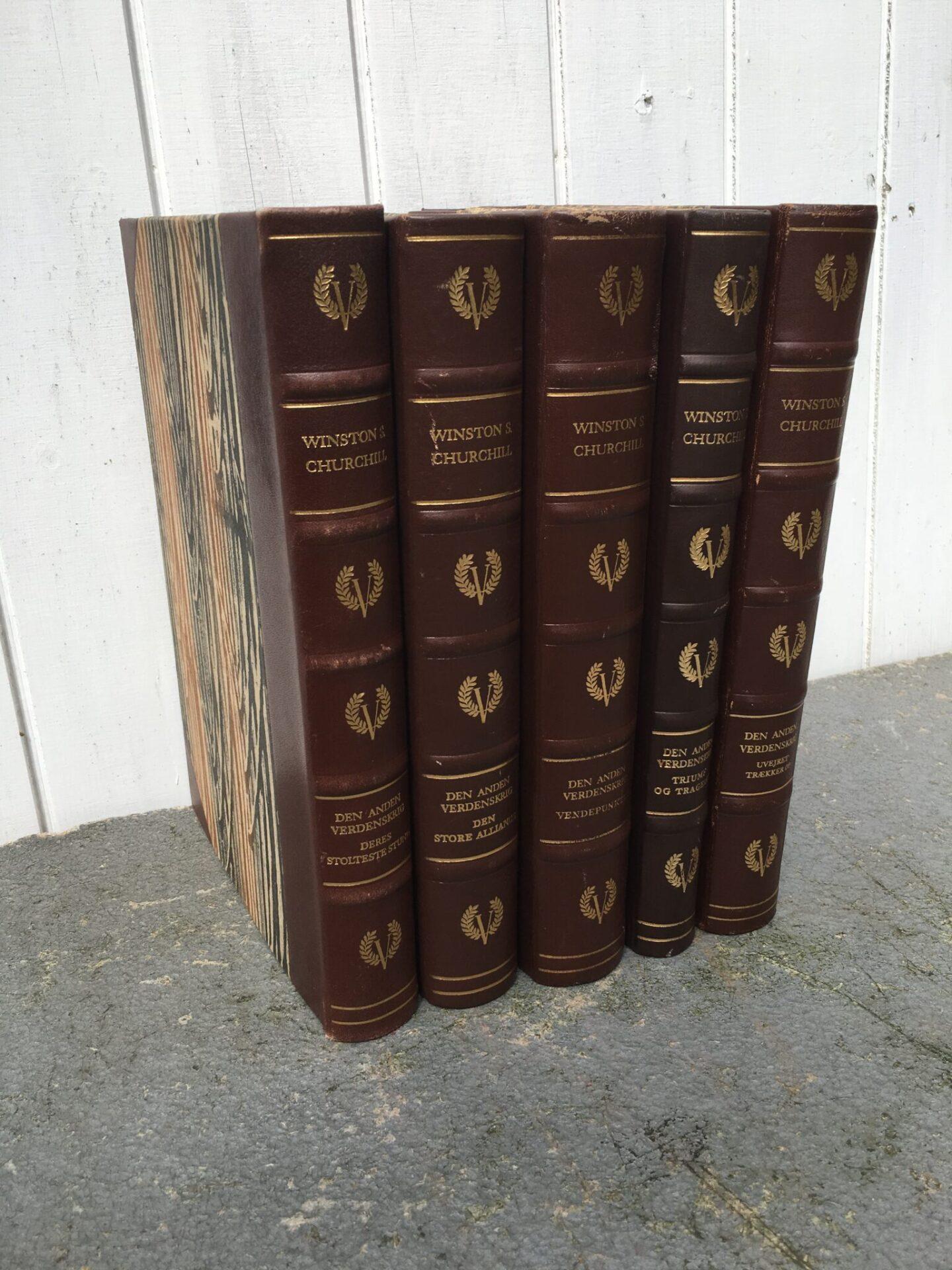 Winston Churchill, 2. verdenskrig, 5 velholdte bind, ialt 100kr