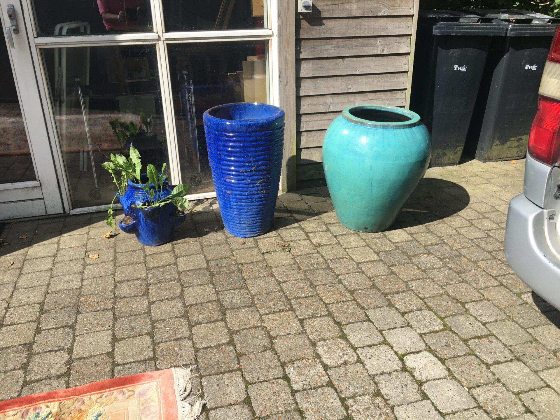 Glaserede havekrukker, h= 65 cm, pr. stk 300 kr