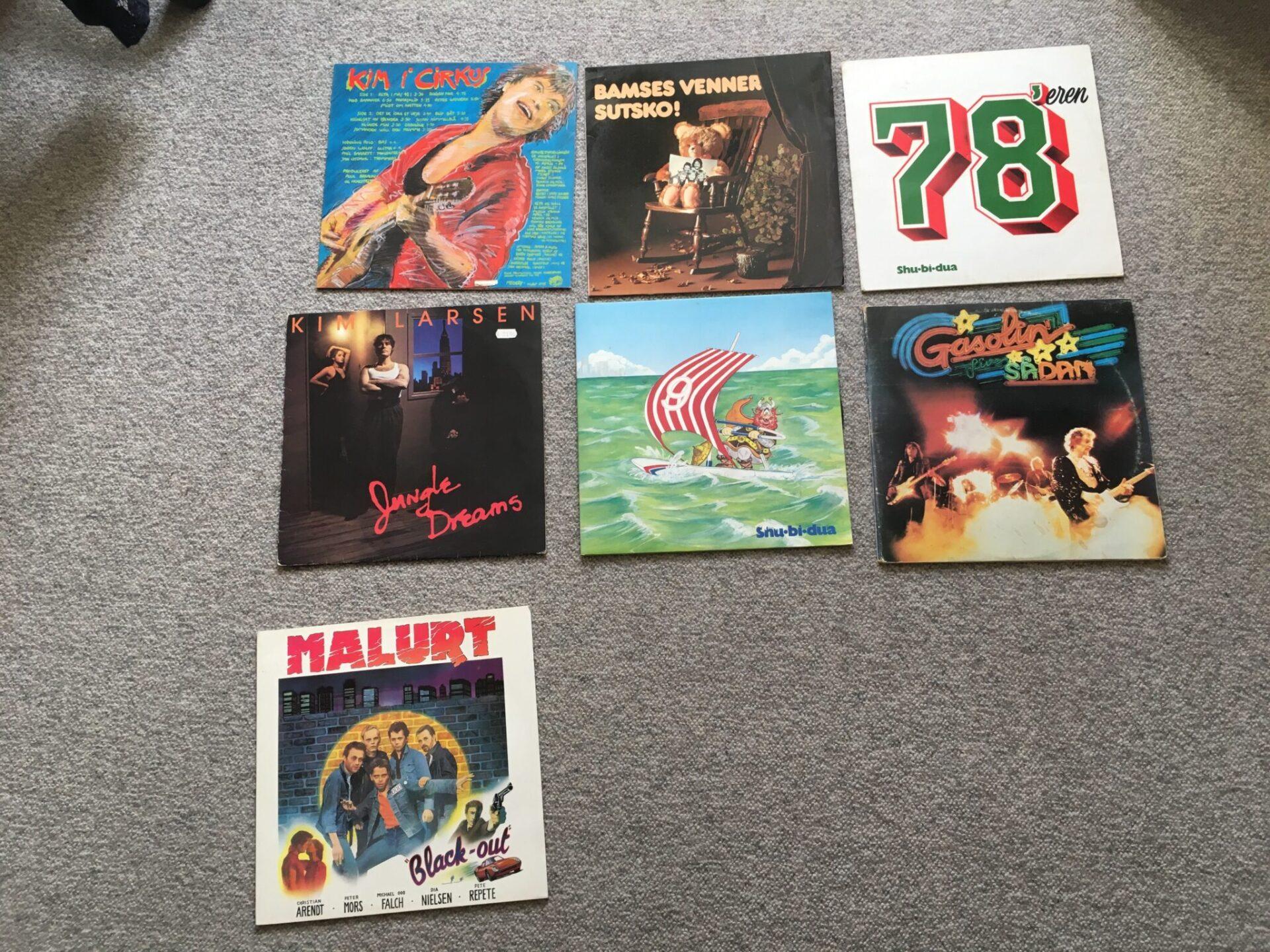 Retro LP-er pr. stk 50 kr