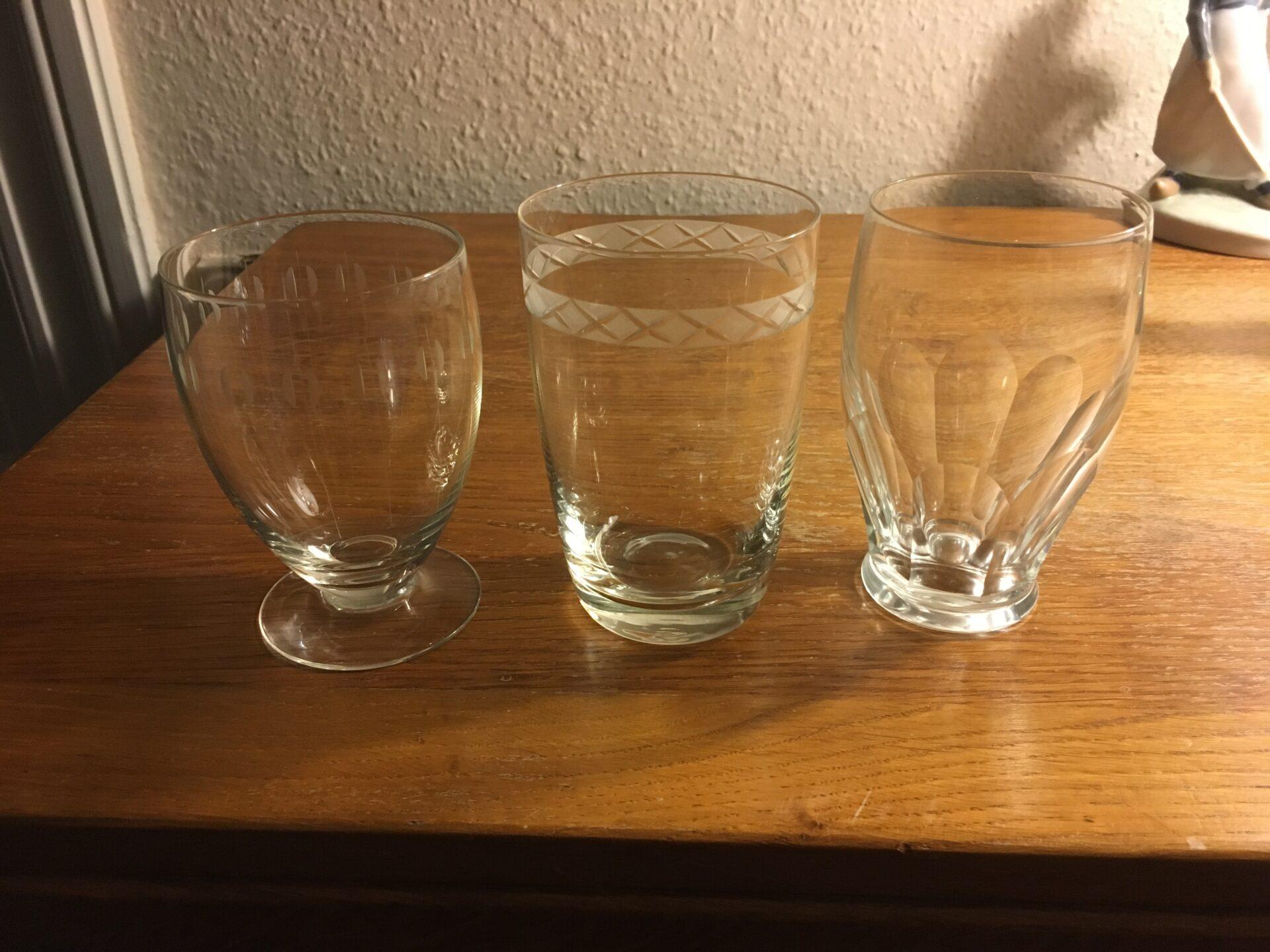 ølglas/vandglas, Kirsten Piil, Ejby, Windsor, pr. stk 40 kr (mange på lager)