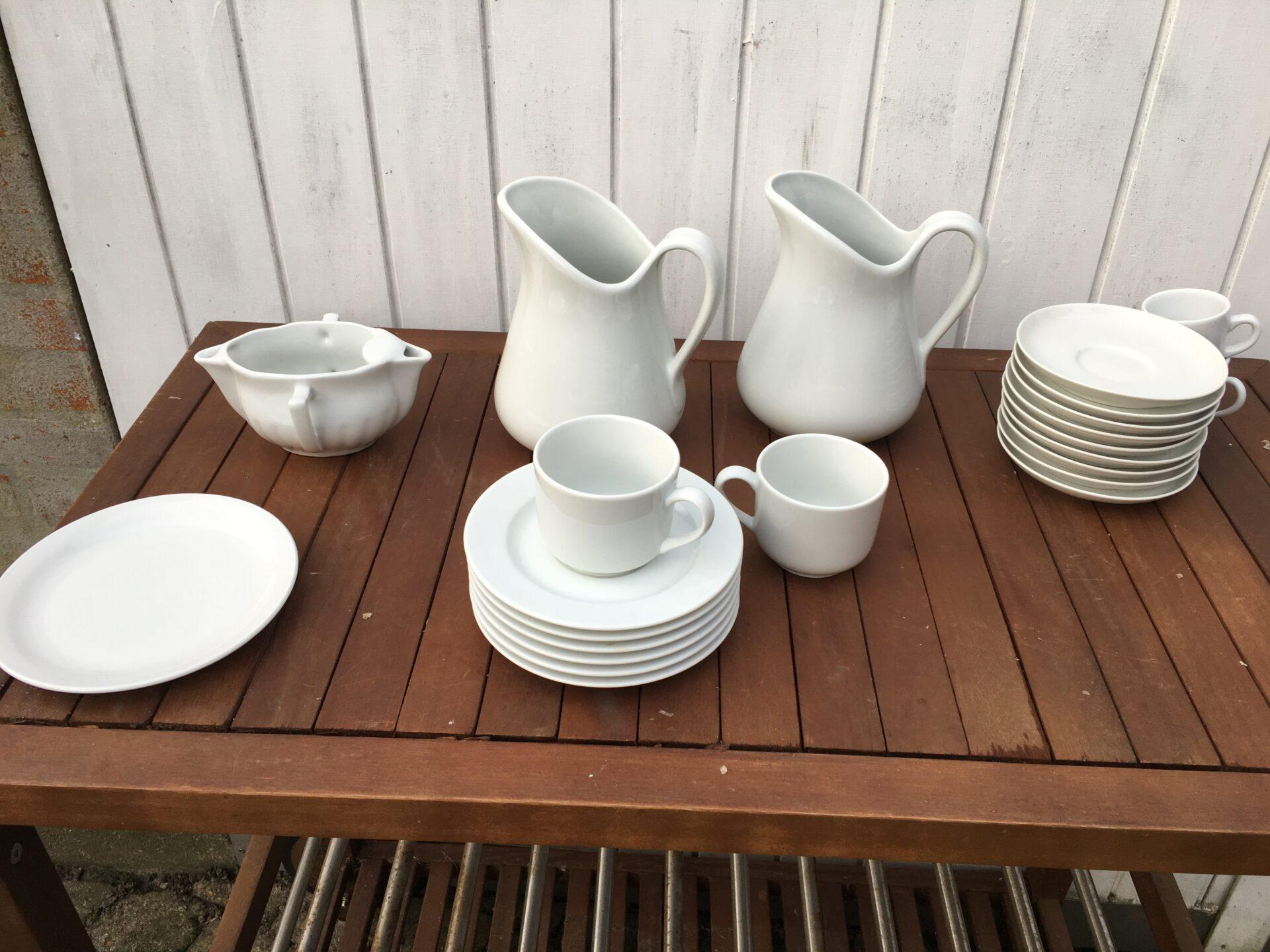 diverse Pillivuyt porcelæn, samlet pris 300 kr