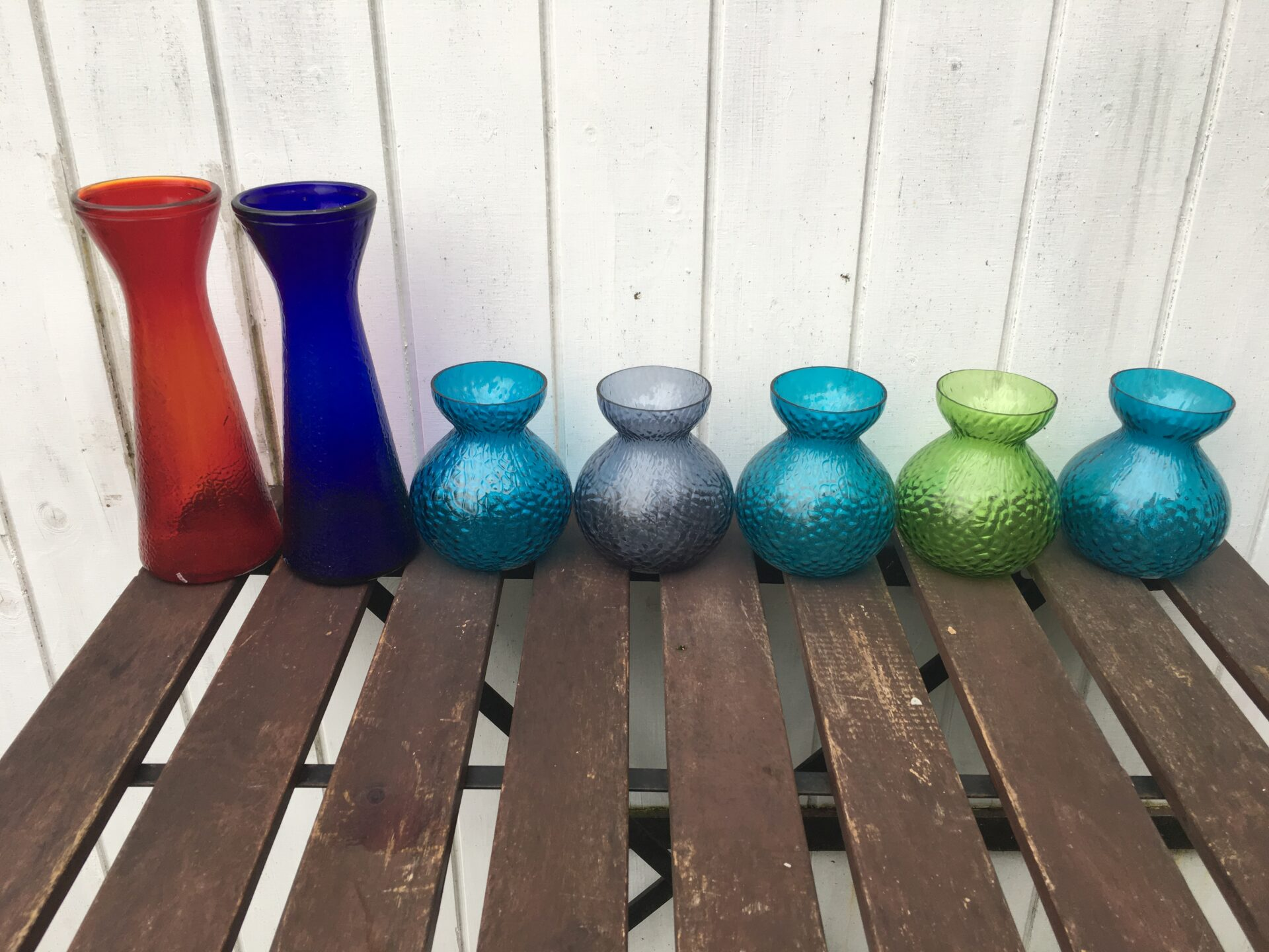 gamle hyacinth glas fra Fyens glasværk 250/200 kr pr. stk