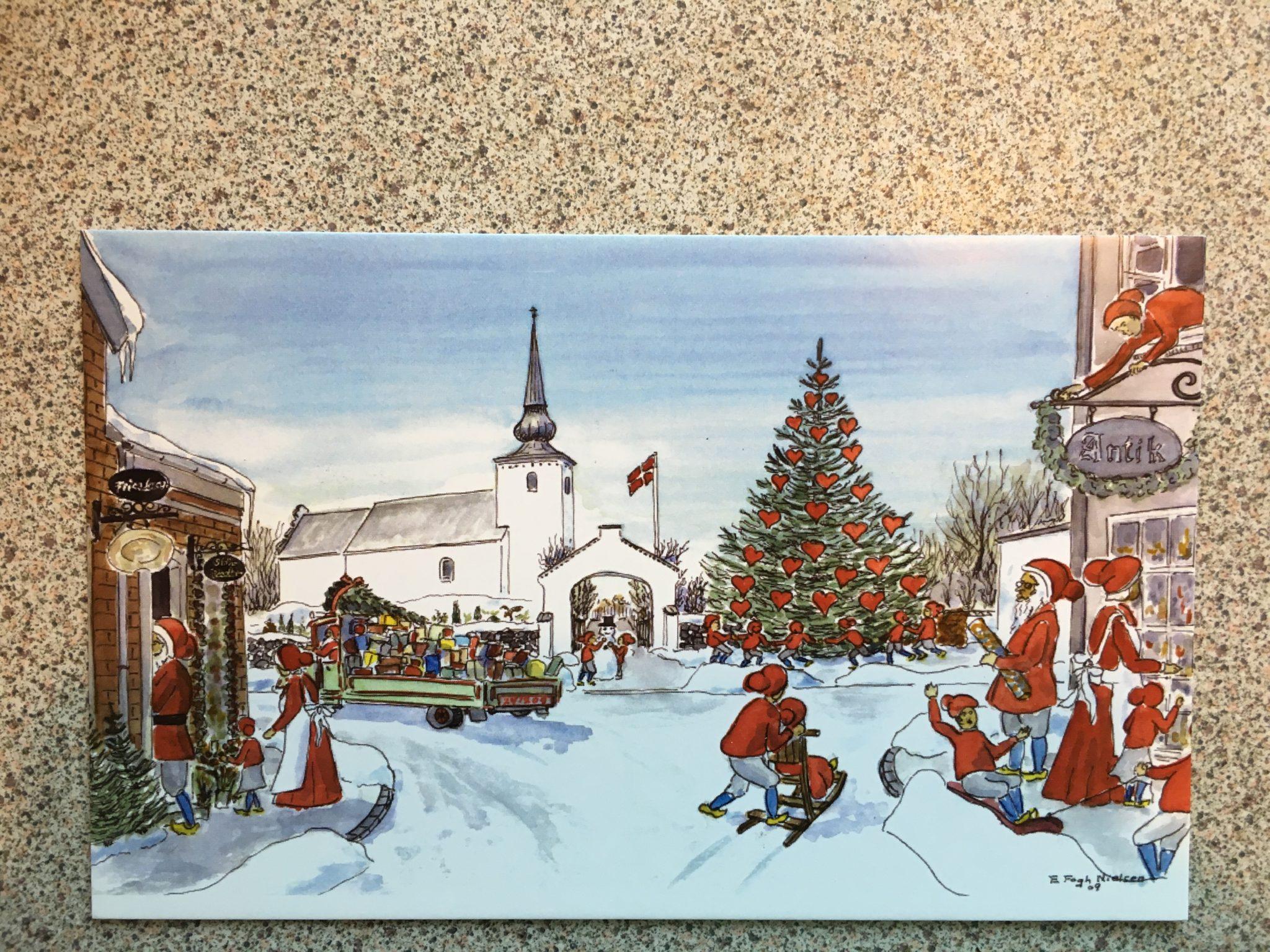 Postkort af Bredsten Kirke pr. stk 10 kr