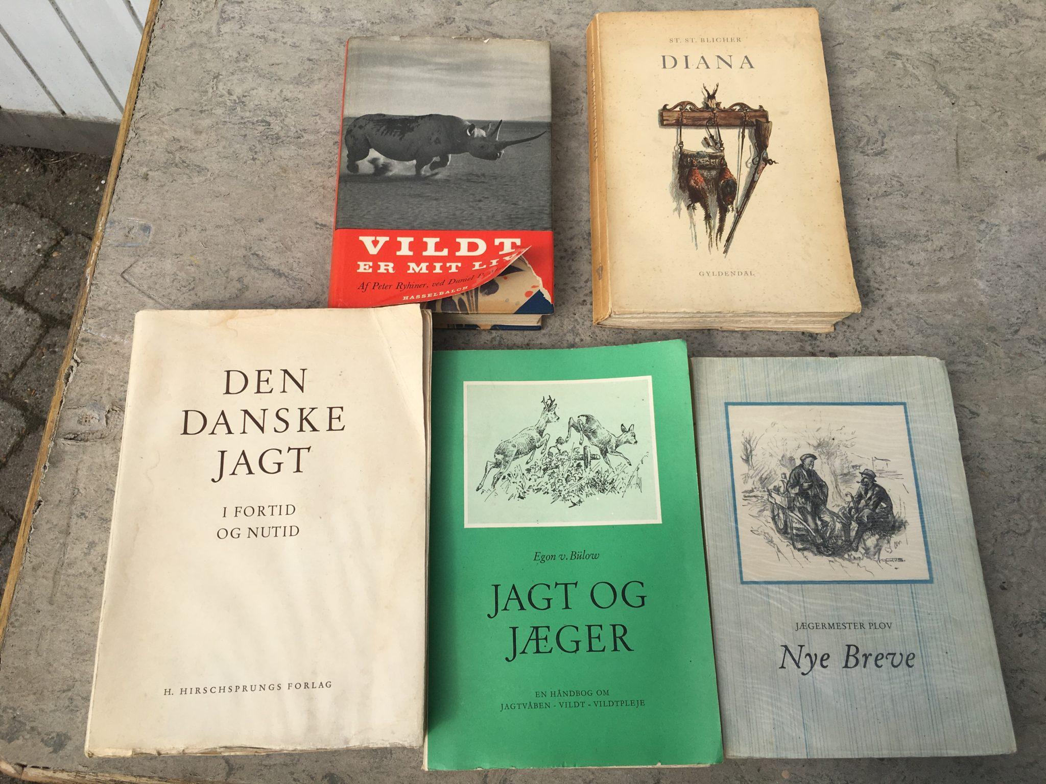 5 stk jagtbøger i alt 100 kr