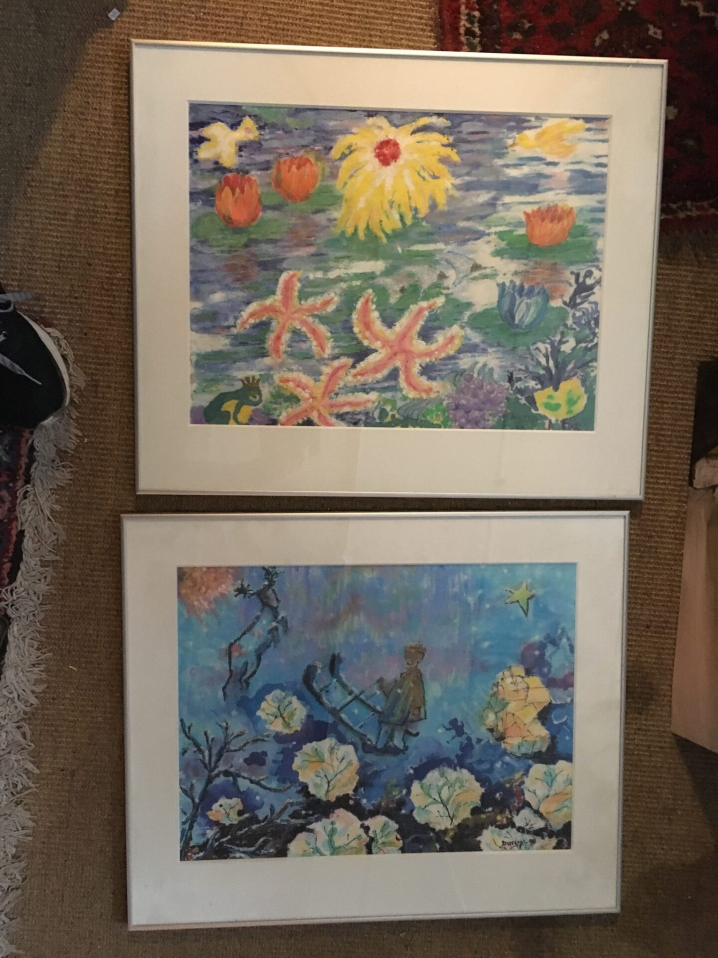 Poul Burup, akvareller, pr stk 300kr