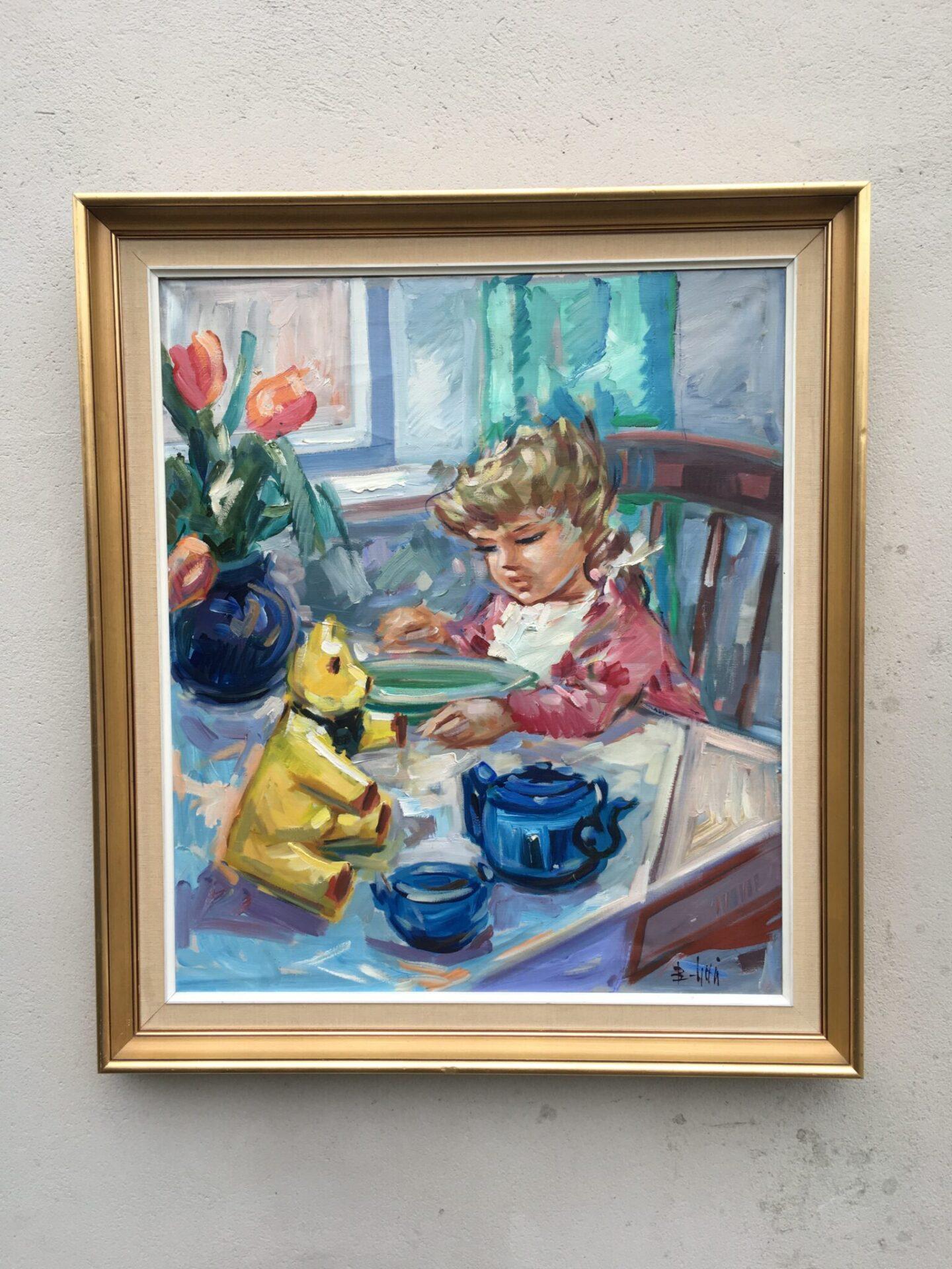 Maleri Bent Lauridsen (82x75 cm) Pris 400 kr