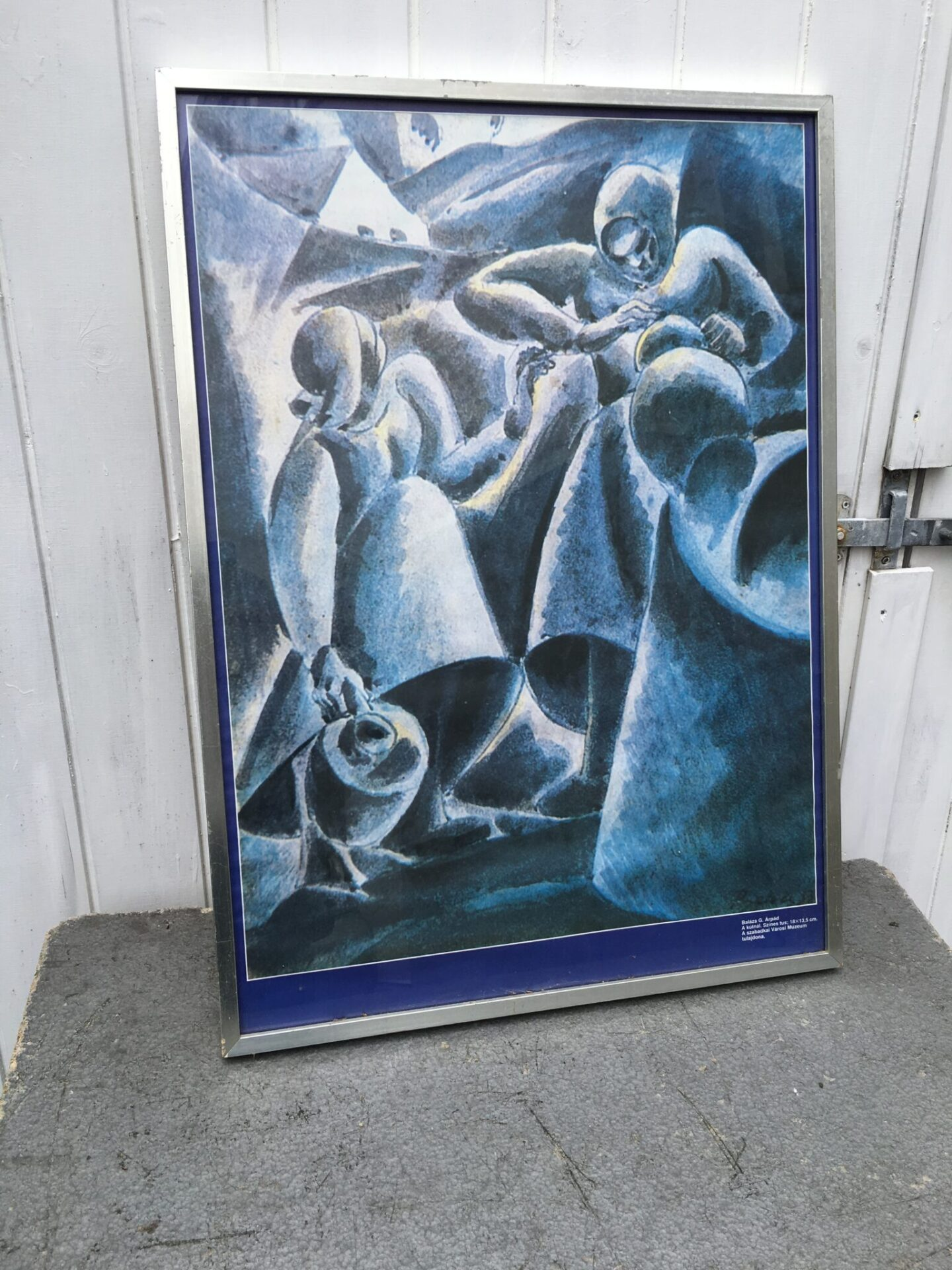 Offset tryk, Balazs G. Arpad (50x70 cm, incl ramme). Pris 300 kr