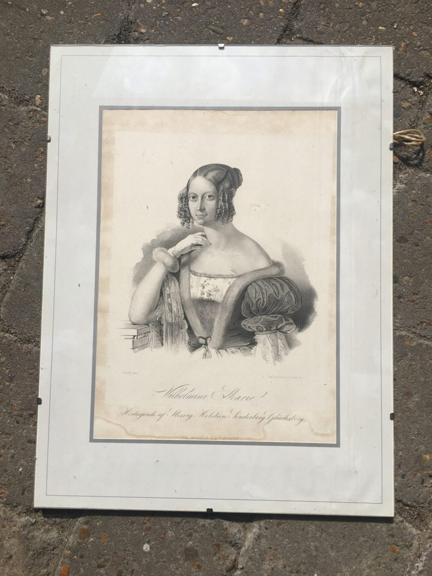 Vilhelmine Marie, prinssese af Danmark og Norge, pris 200 kr (40x30 cm)