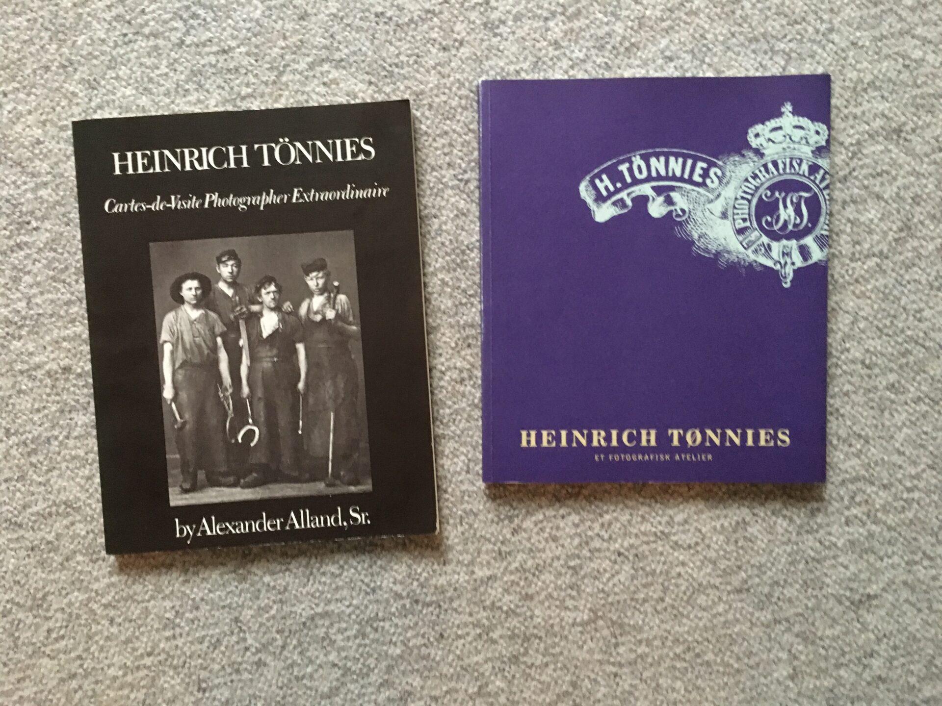 2 bøger om Heinrich Tönnies, Aalborg, ialt 150 kr