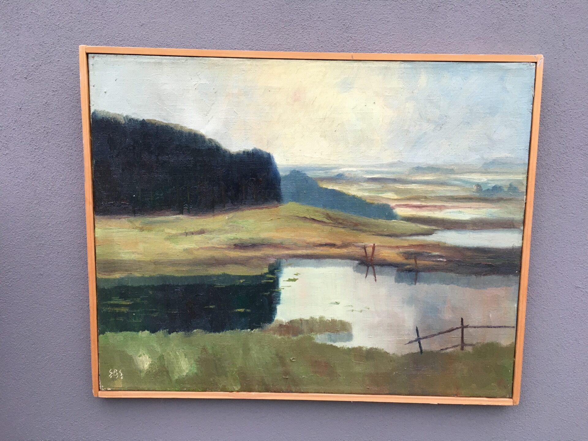 Maleri, Sv. Bertehlsen, Stenvig, 1949,