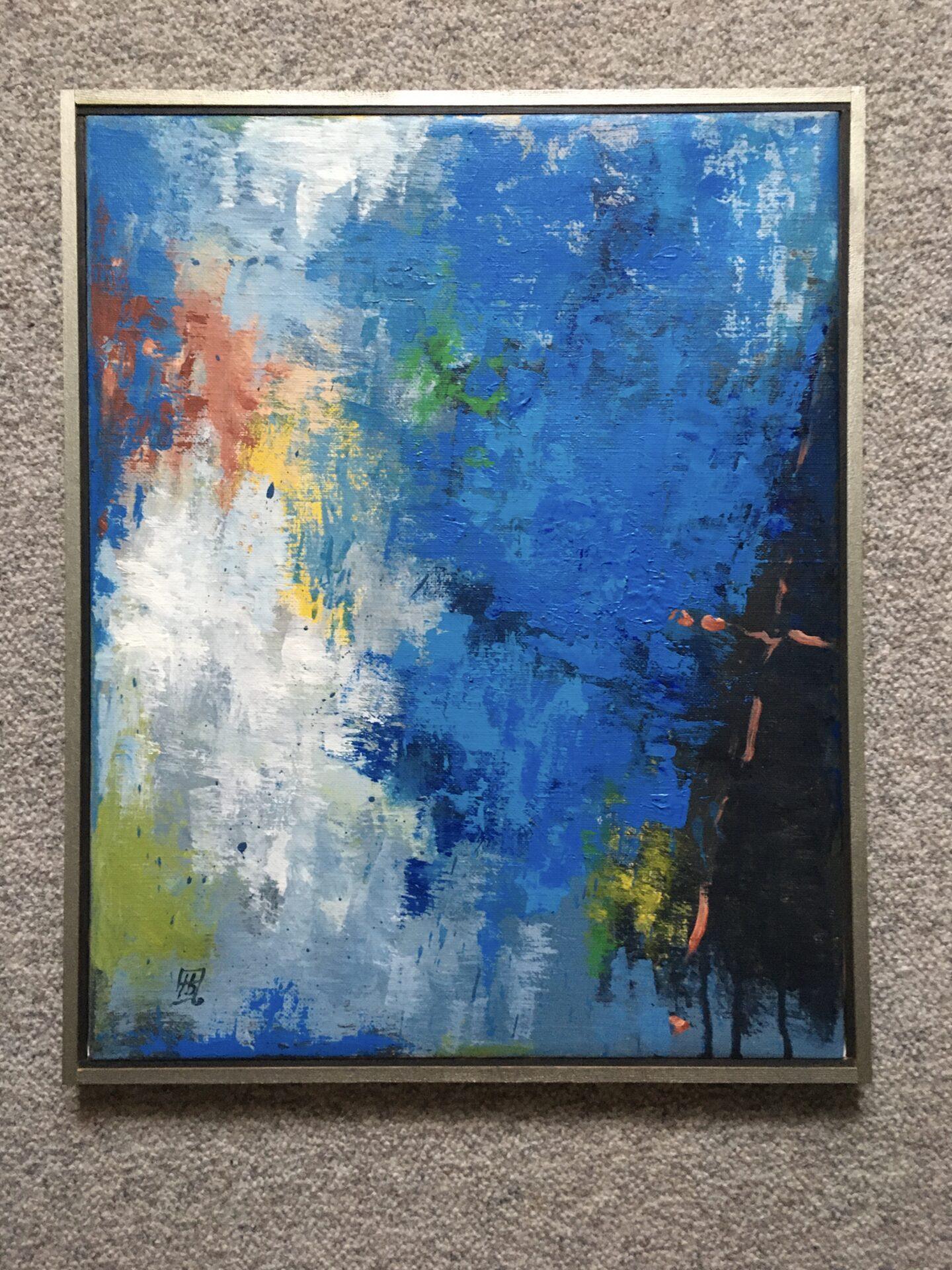 Maleri, sign Tony Buchardt, 95, rammemål 43x54 cm, pris 500 kr