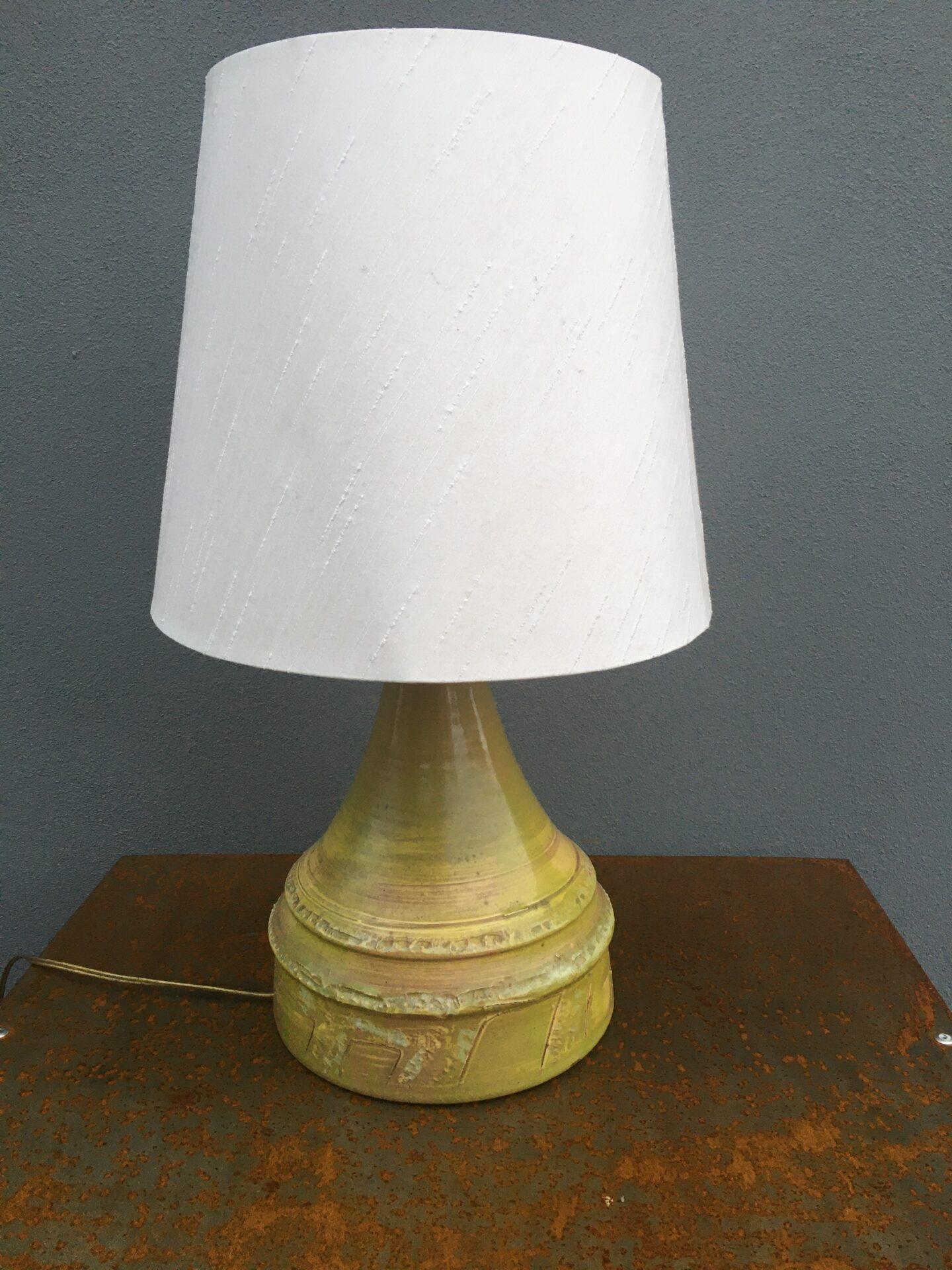 Retro Bordlampe, dansk keramik mrk