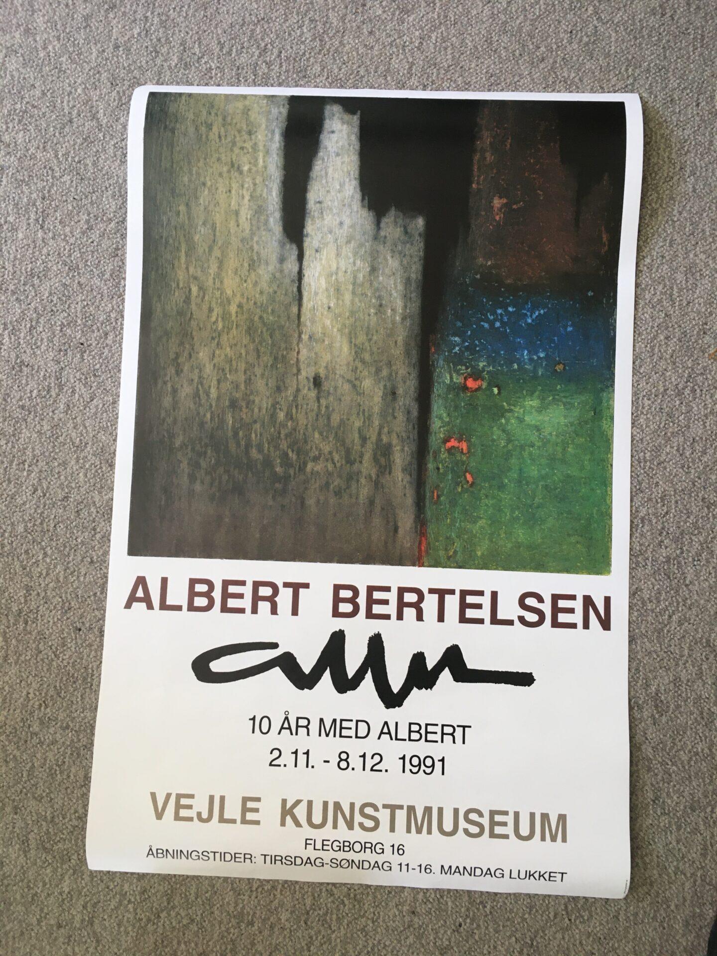 Albert Bertelsen, udstillingsplakat fra 1991, uindrammet, 53x83 cm, pris 200kr