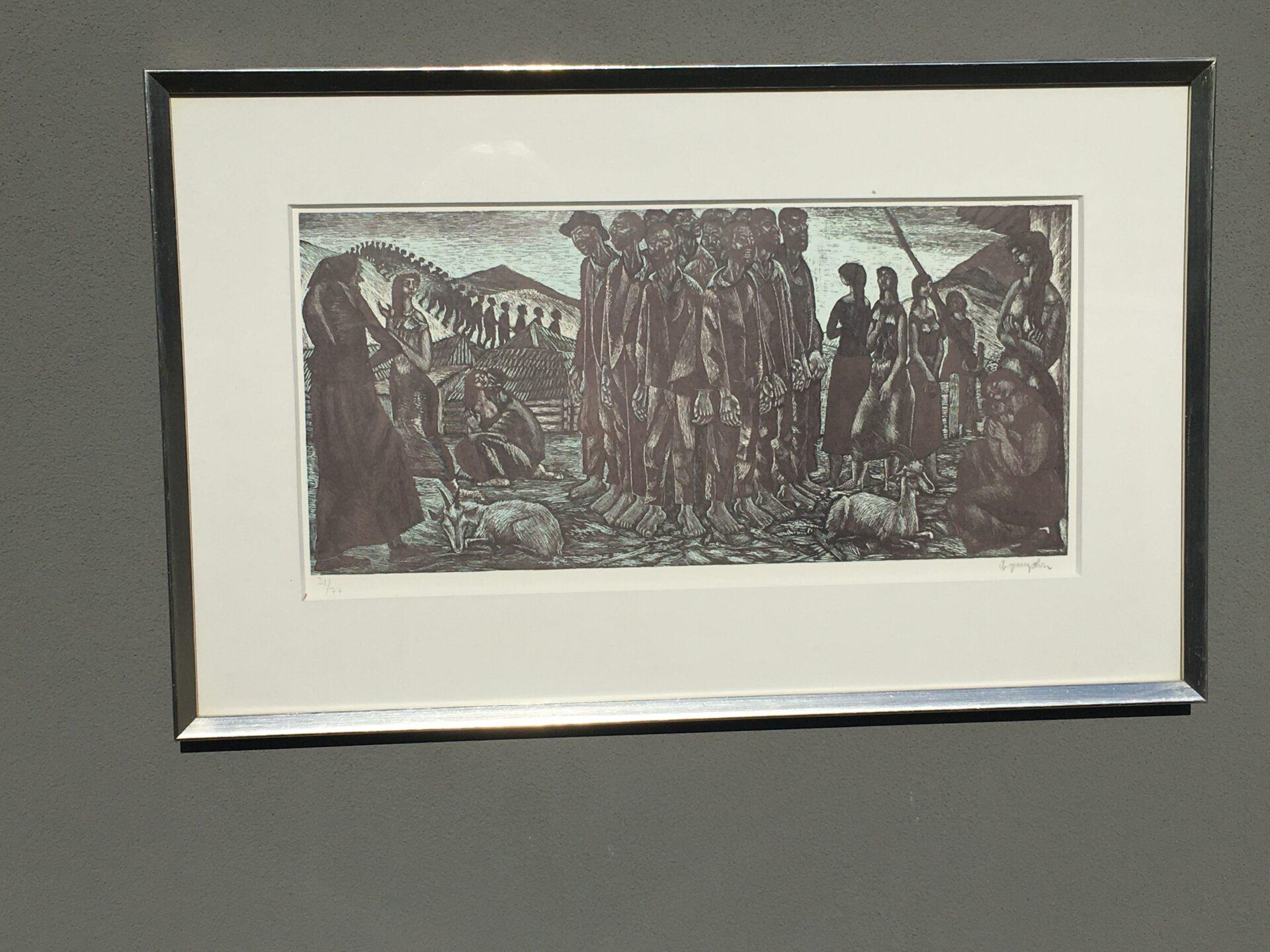 Ib Spang Olasen, litografi nr 31/77, signeret i bly, rammemål 43x69 cm, pris 500kr