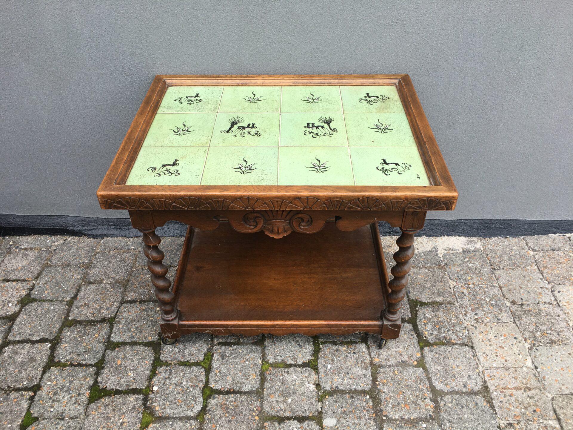 Renæssance rullebord/barbord, fra 50-erne, pris 300kr