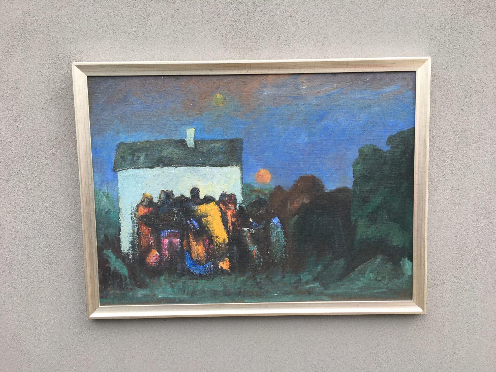 Regnar Jacobsen, Vejle, rammemål 96x72 cm, pris 500kr