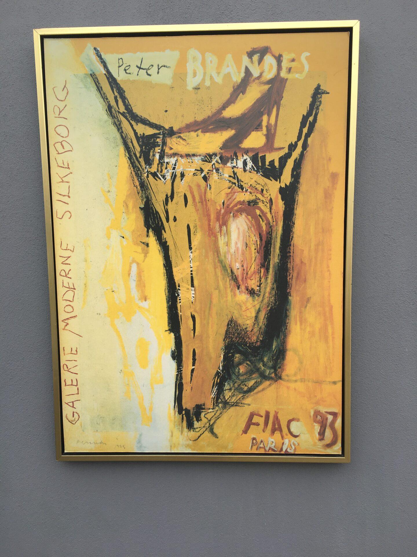 Peter Brandes Kunsttryk, rammemål,70x100 cm, pris 300kr
