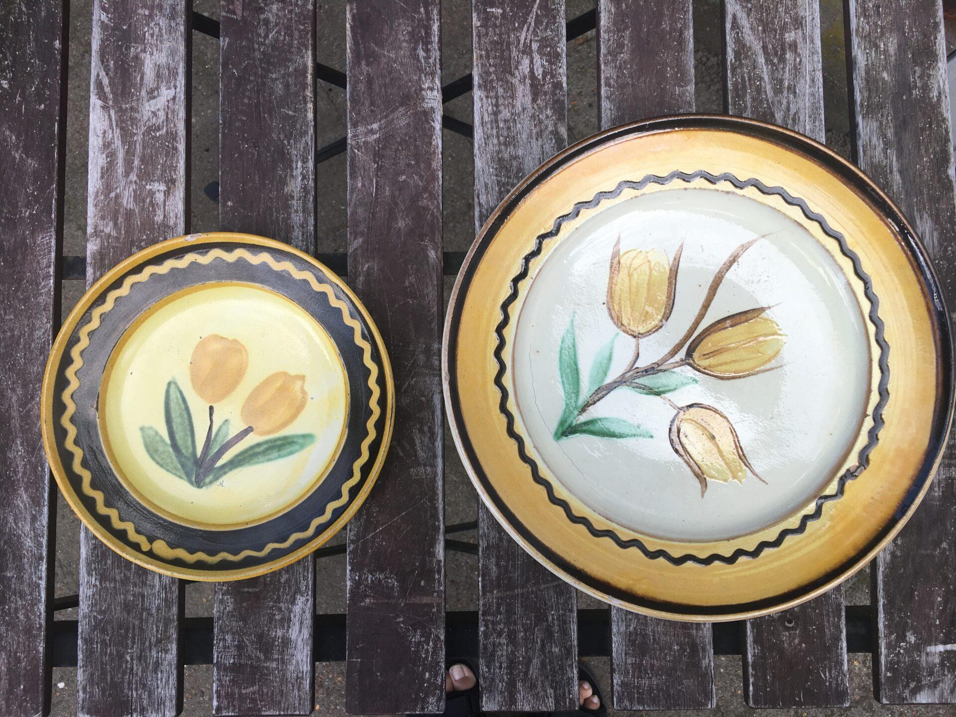 Dansk lertøj, antageligt 1800-talet, d=20/30 cm, pris 200/400krr