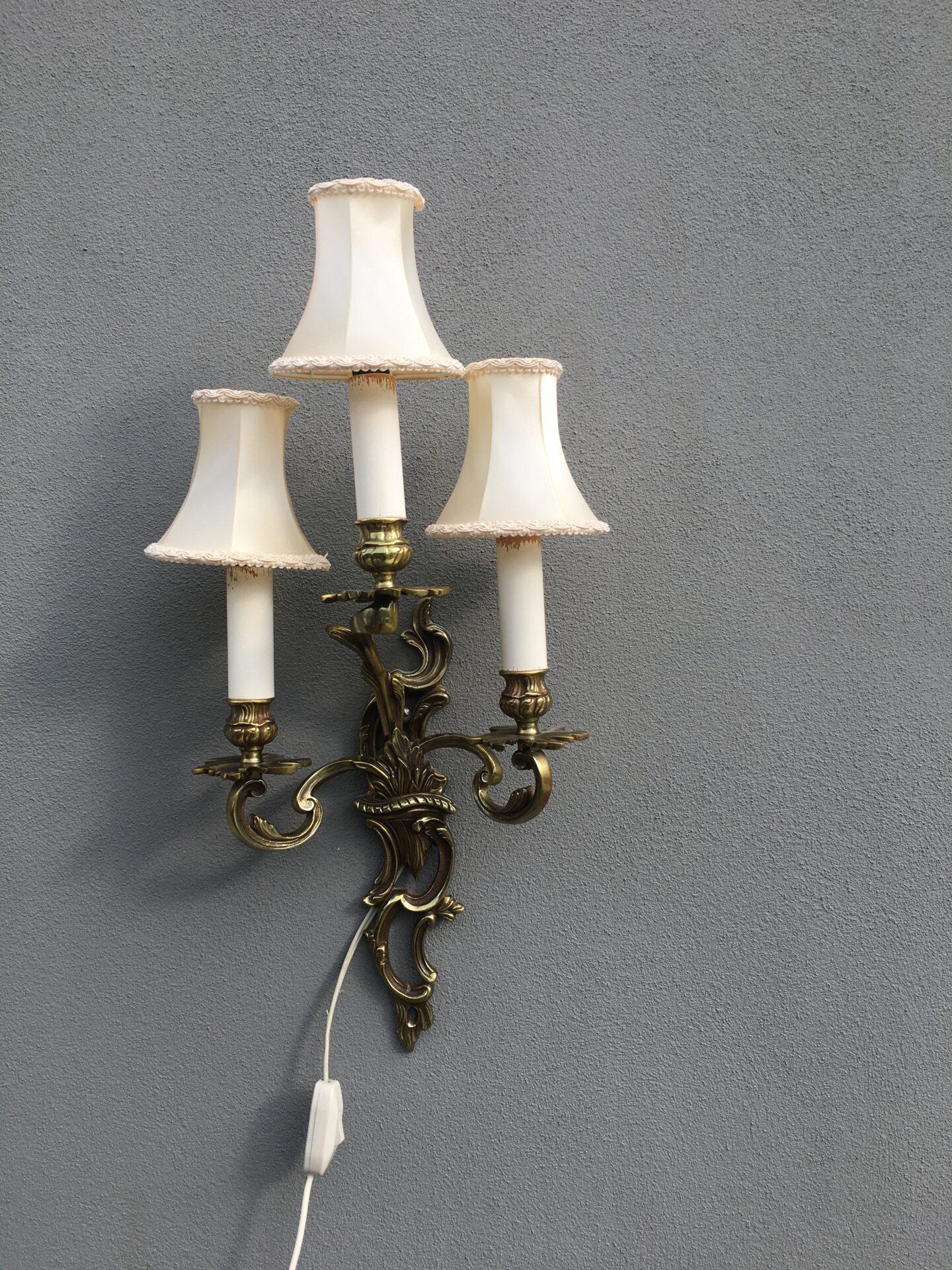 Væglampet, bronze, velholdt, pris 300kr