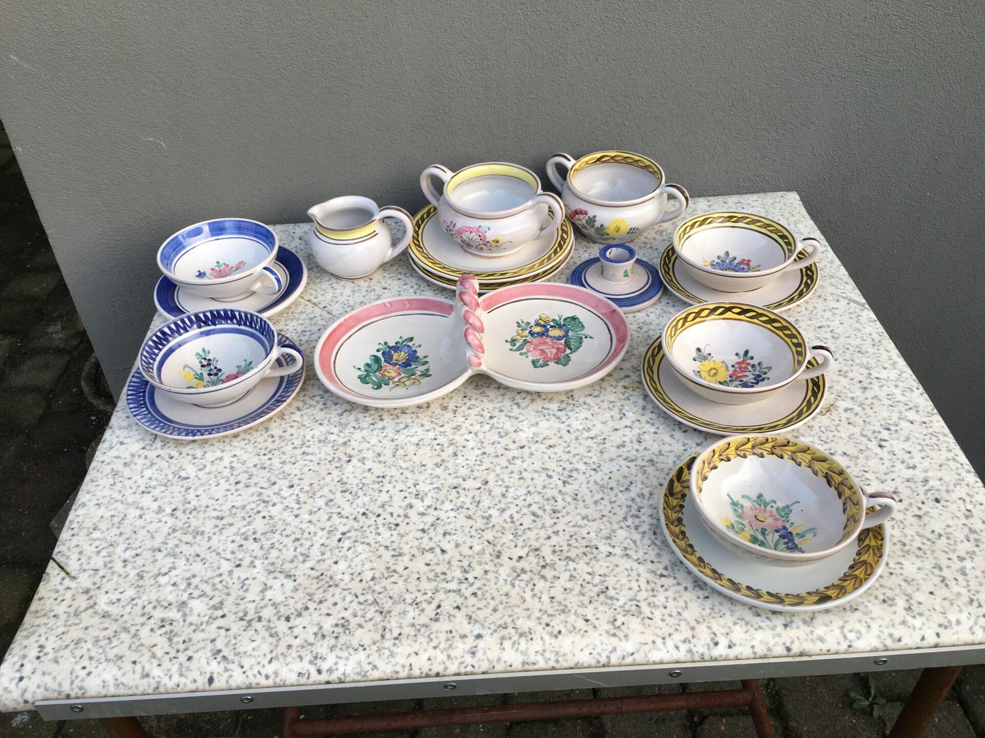 Lars Syberg, keramik, 5 tekopper mm, samlet pris 800kr