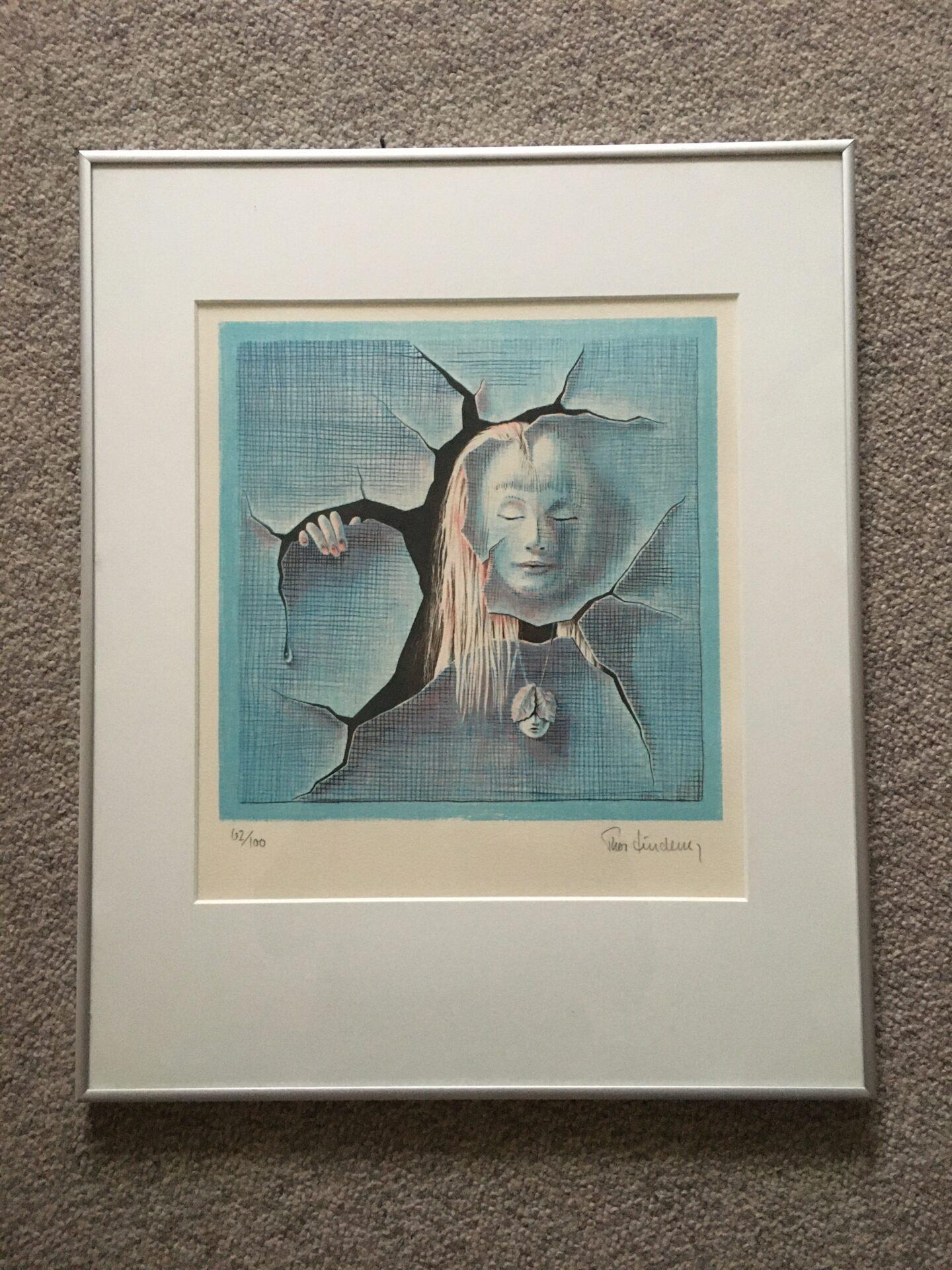 Thor Lindeneg, litografi nr 62/100, rammemål 41x51 cm, pris 600kr