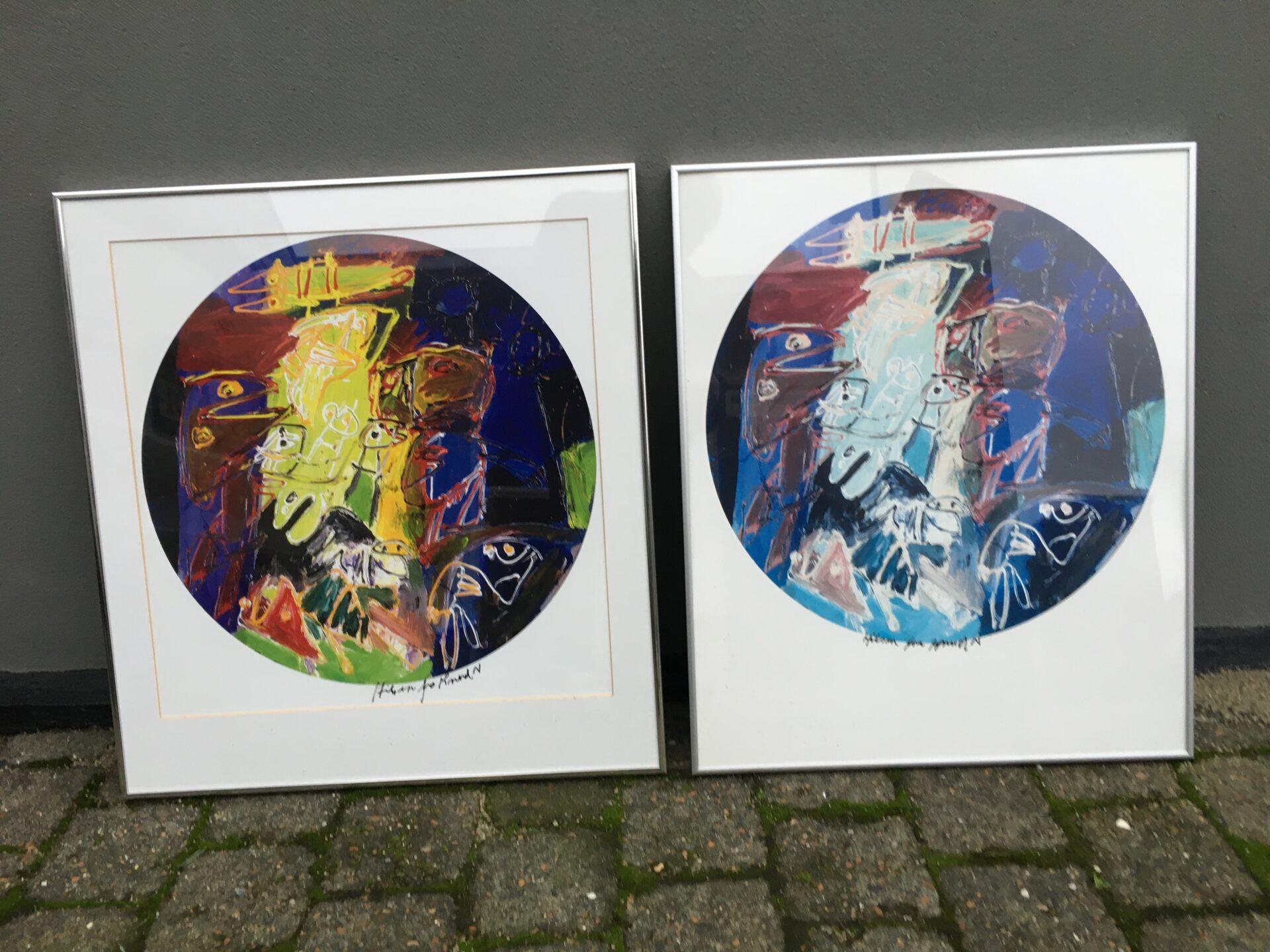 Knud Nielsen, signeret kunsttryk, rammemål 56x61cm, pris pr. stk 300kr