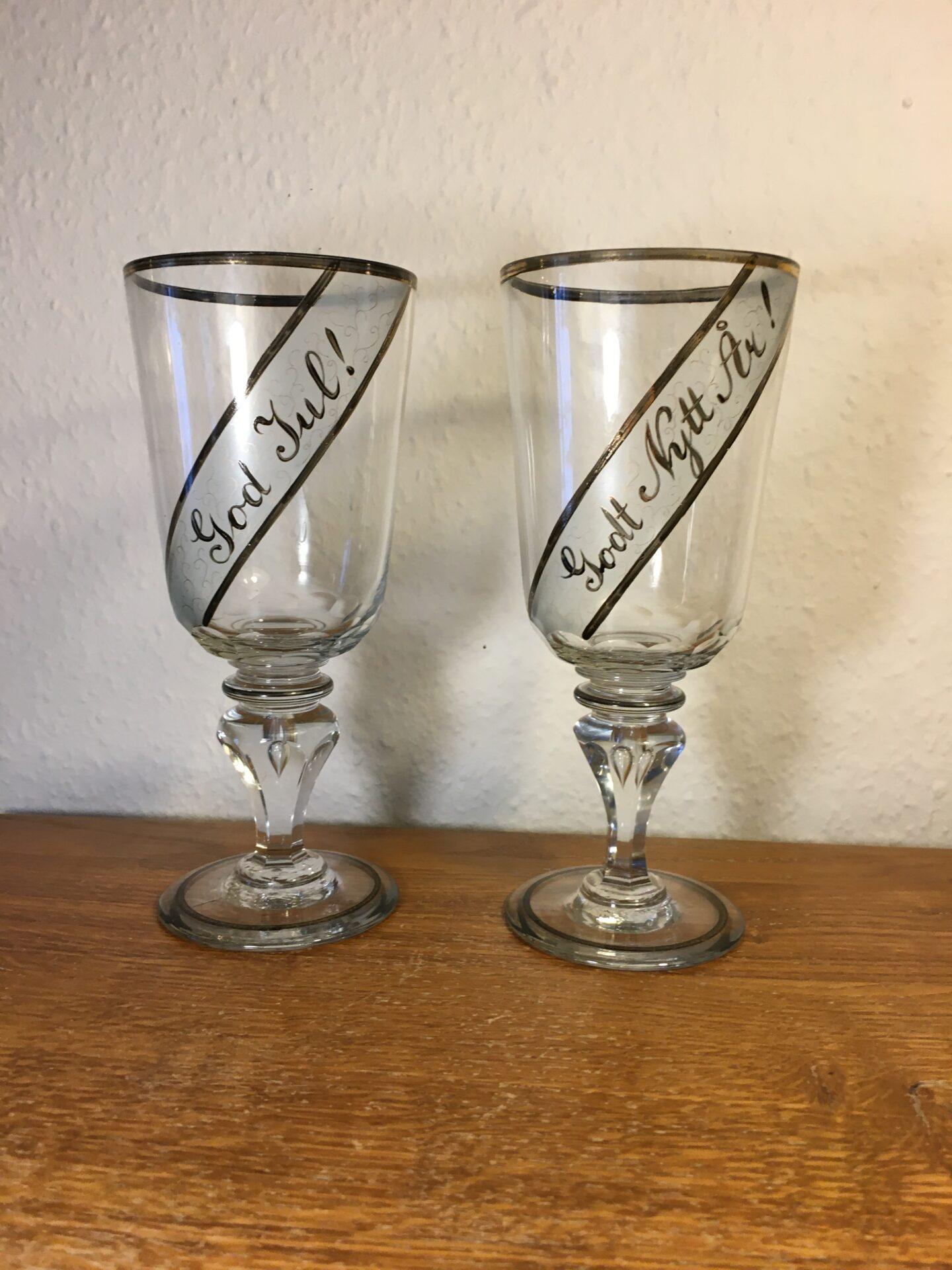 Norske ølpokaler fra 1800-tallet, h= 21,5 cm, pris pr. stk 400kr