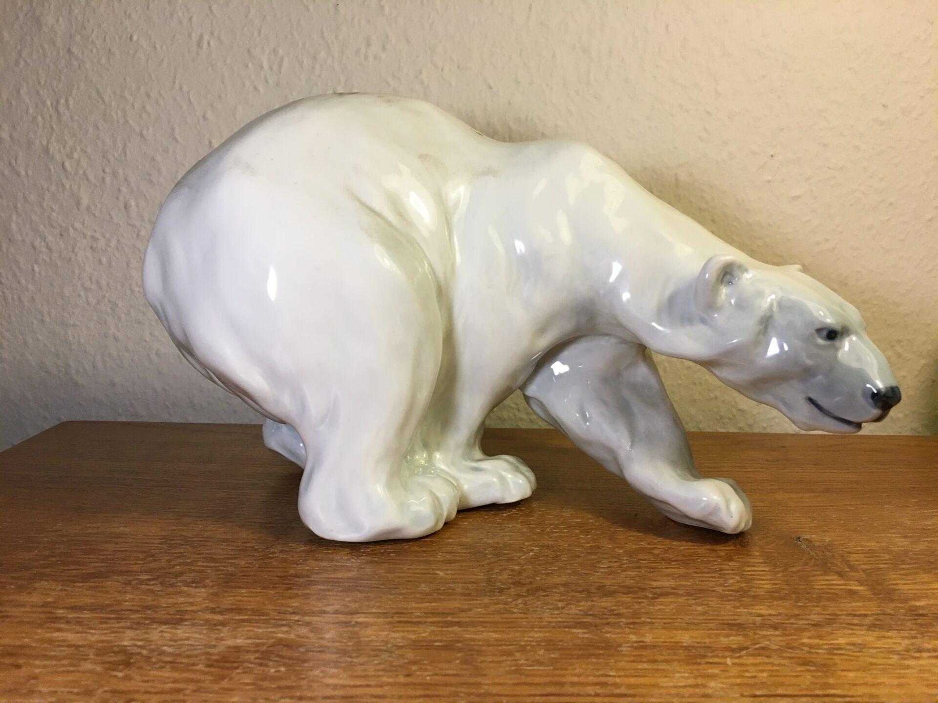 Kongelig porcelæn, stor isbjøren, nr 089 (1137), 1. sortering, fejlfri, pris 1500kr