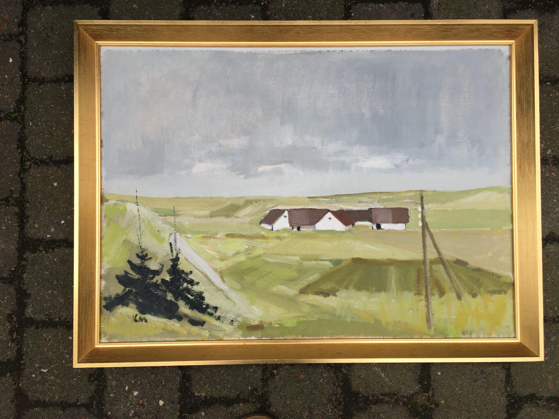 Karsten Hallberg Møller, oliemaleri, rammemål 55x77 cm, pris 500kr