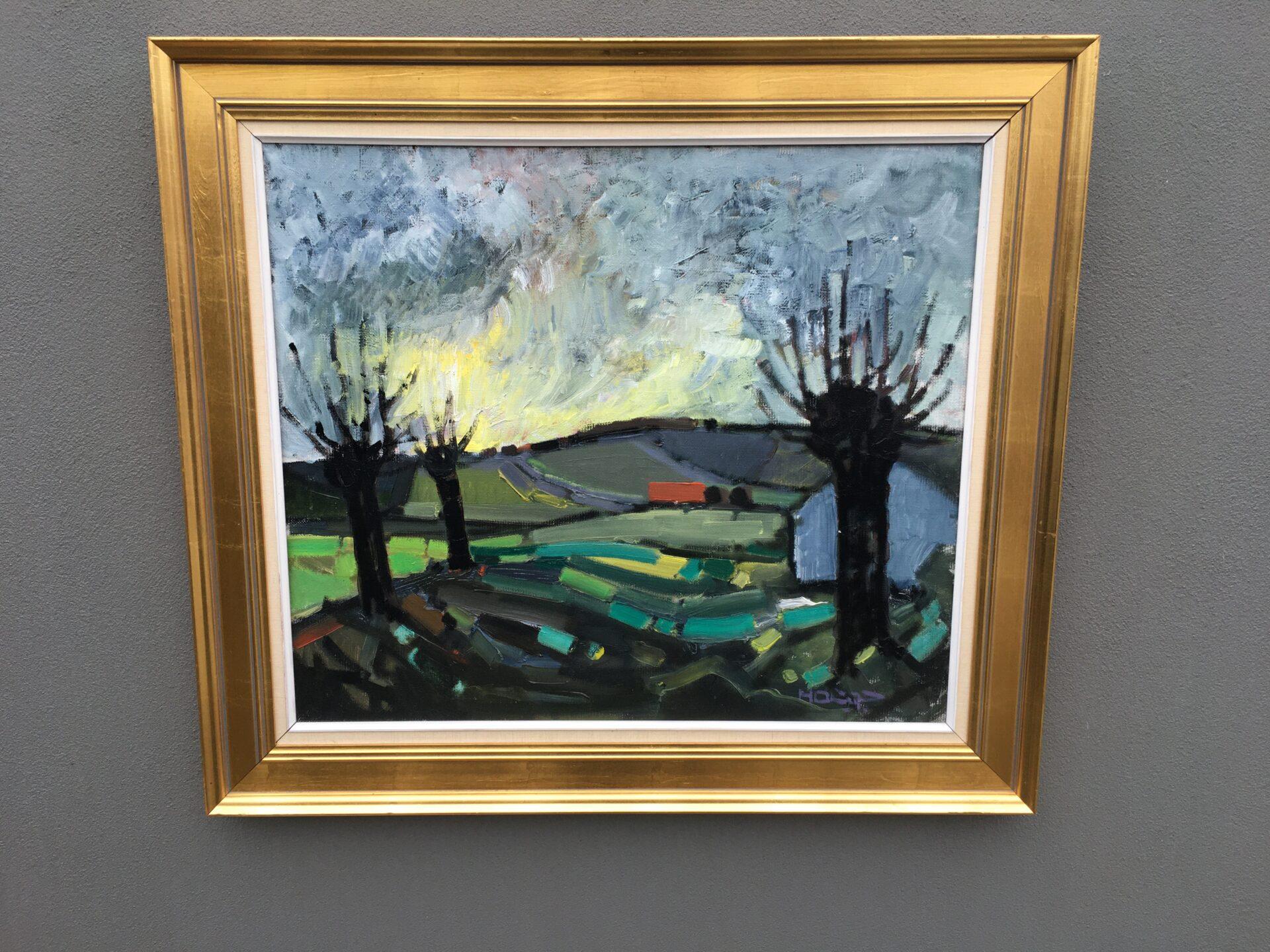 Knud Horup, maleri, rammemål 88x77 cm, pris 1000kr