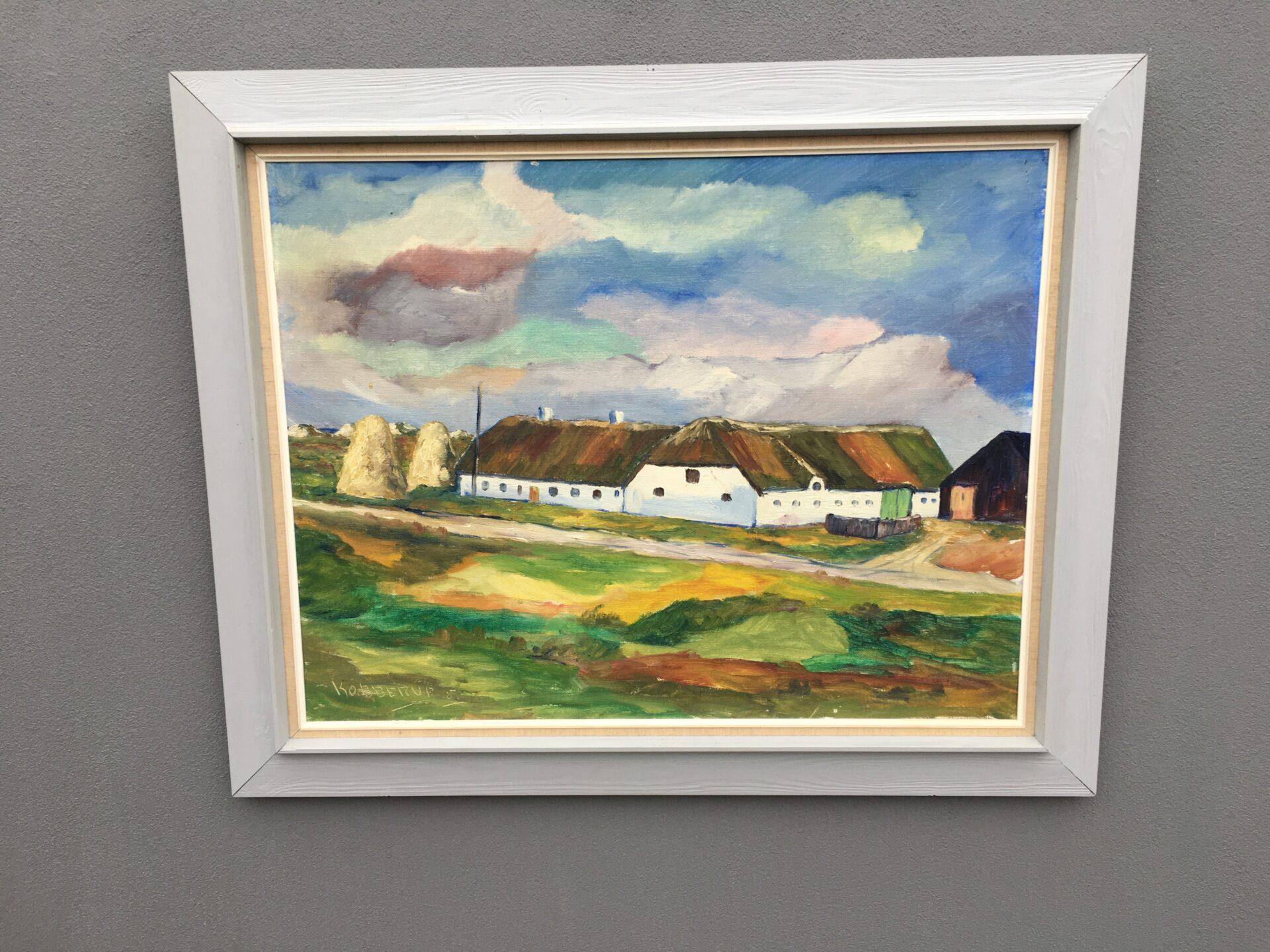 Carl Arthur Kobberup Andersen, maleri, rammemål 80x100 cm, pris 400kr