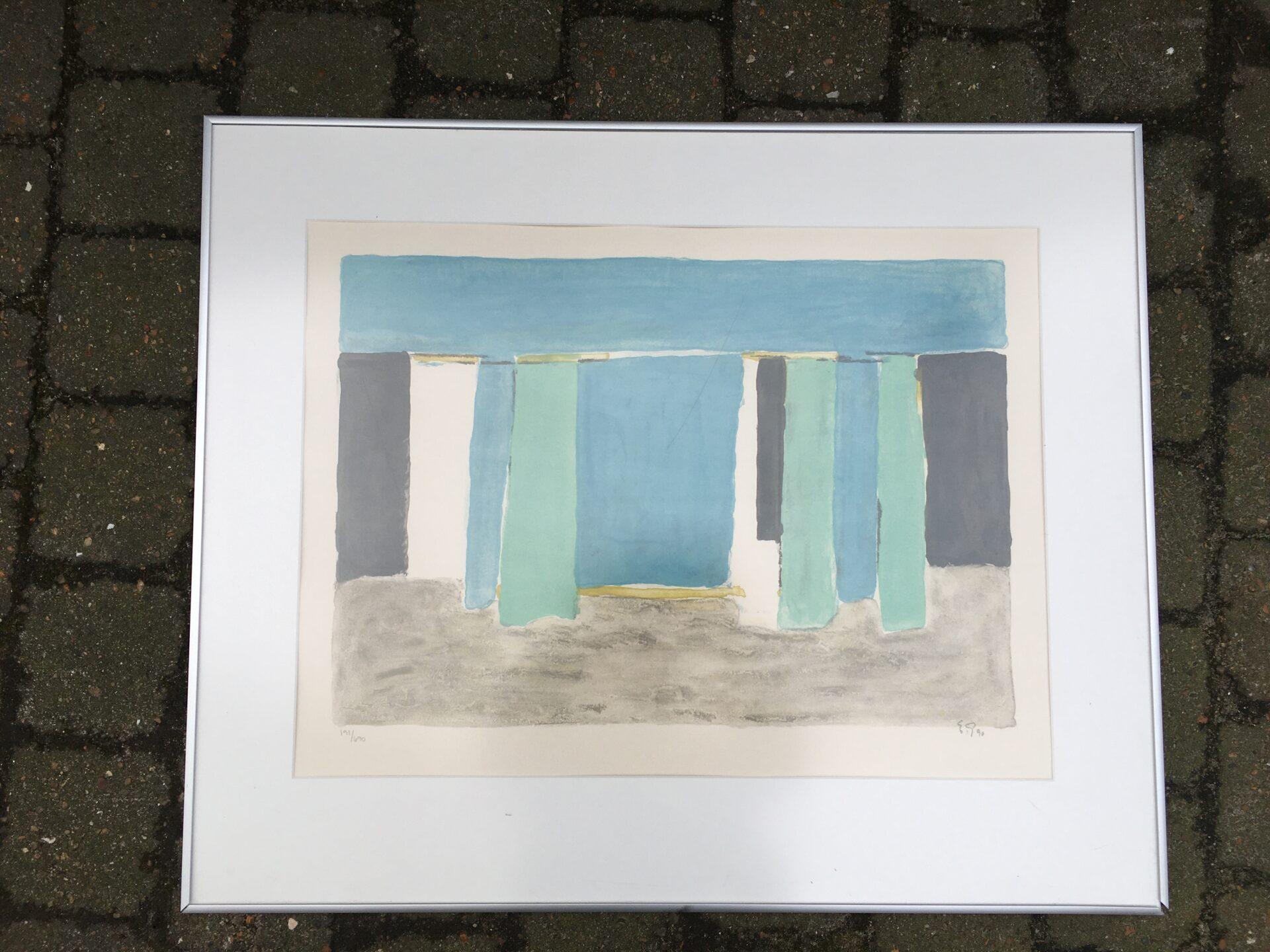 Emil Gregersen, litografi nr191/690, signeret i 90, rammemål 64x77. Pris 400kr