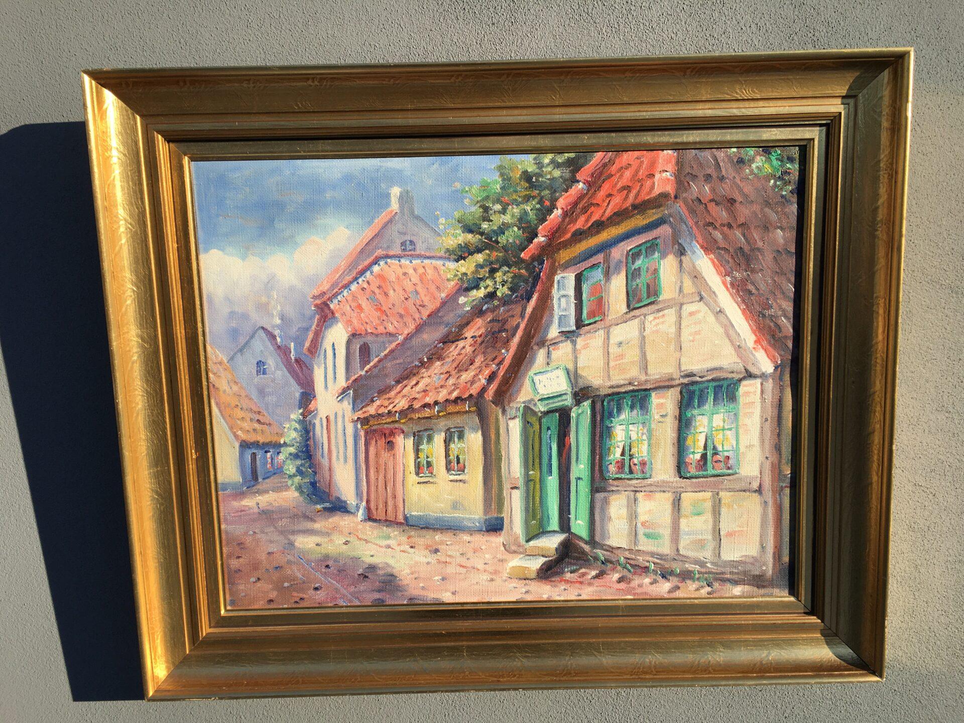 V. Albertsen, maleri, rammemål 63x79 cm, pris 400kr