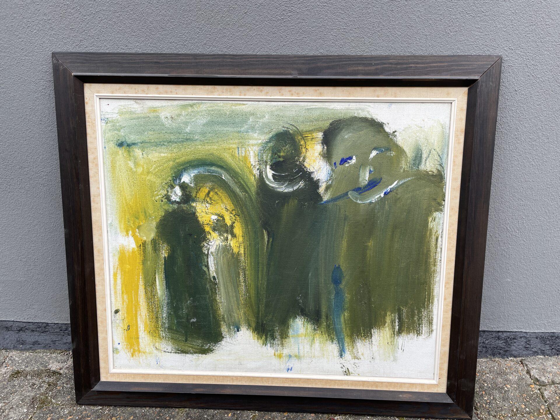 Svend Åge Taucher, u. sign. rammemål 64x75 cn, pris 500kr
