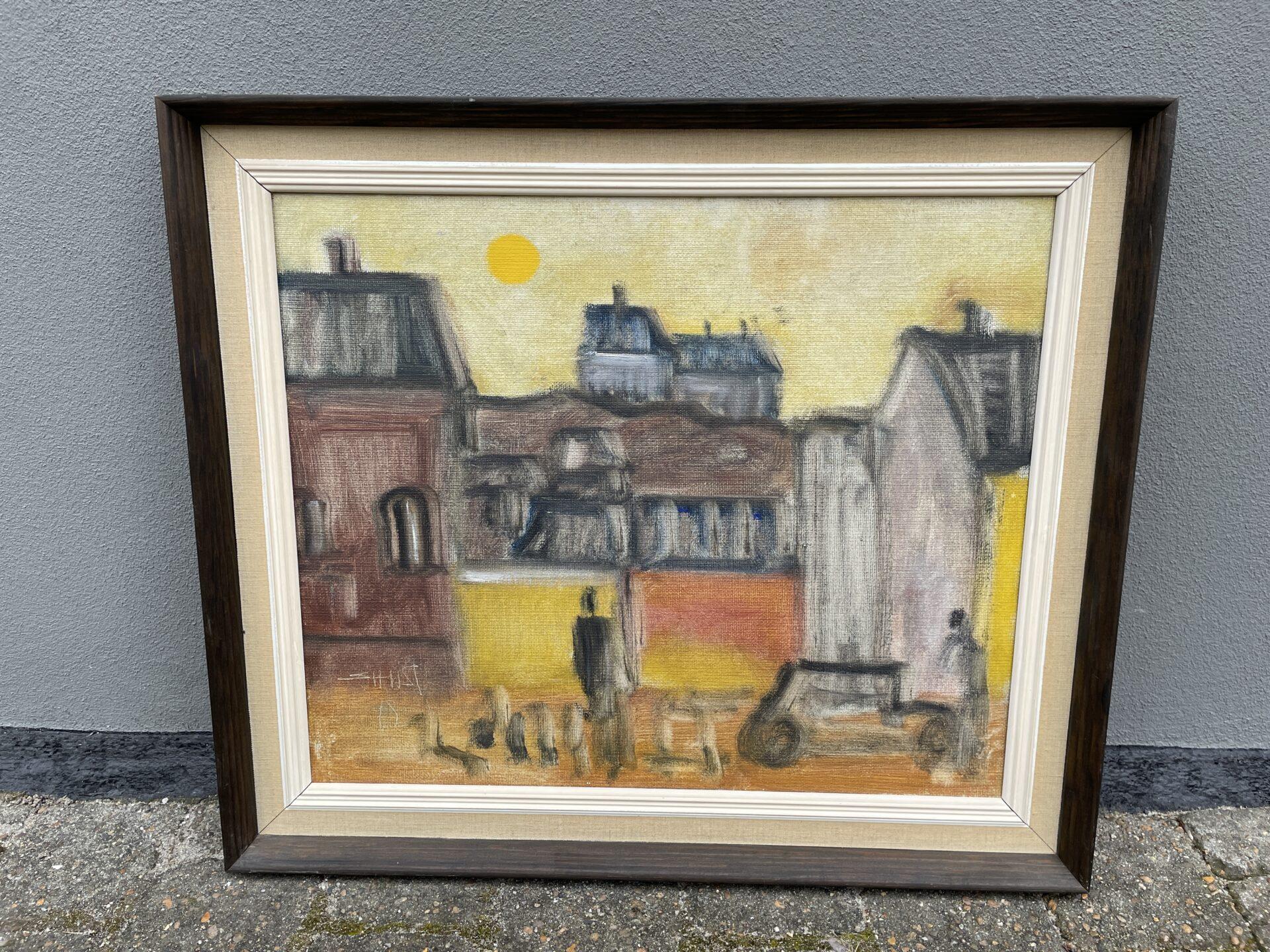 Svend Åge Taucher, rammemål 57x67 cm, pris 700kr
