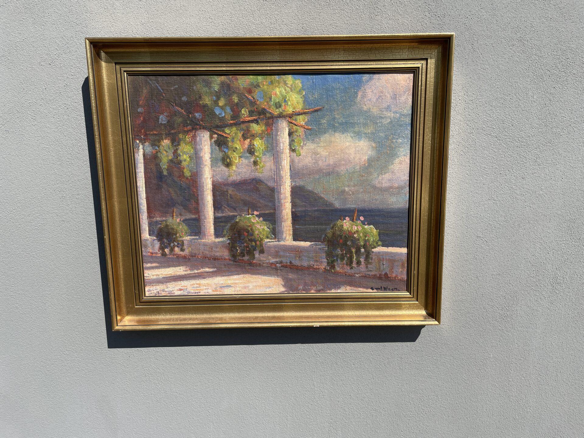 Maleri sign. Carl Wagn, rammemål 70x60 cm, pris 500kr